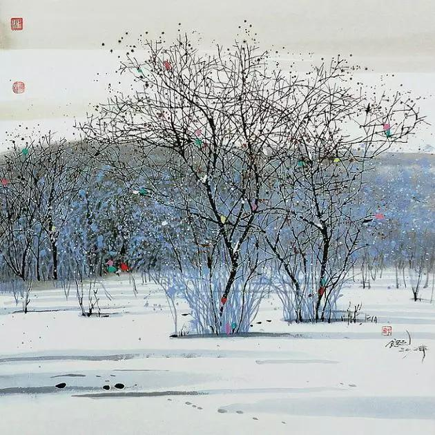 一组清新靓丽的江南风光彩墨画,美到窒息!