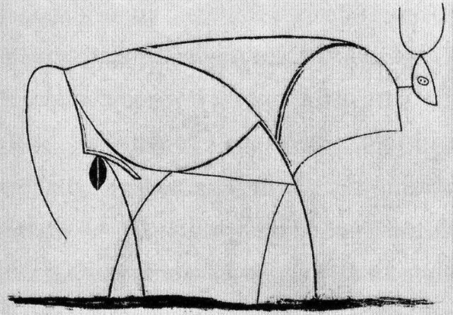 毕加索的牛的进化史