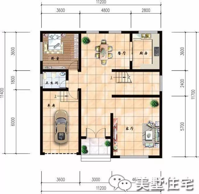 三款不同風格的農村自建三層別墅推薦,兩款帶車庫,一款鏤空客廳