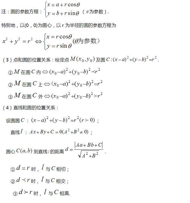 高中数学重要知识点,高考数学必考知识点总结