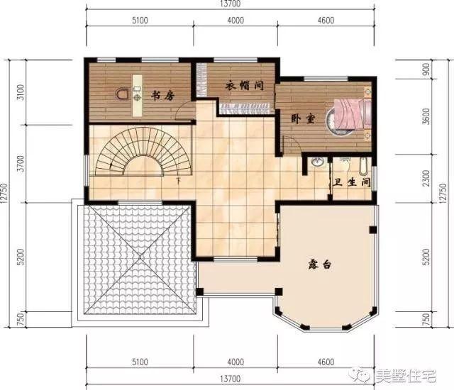 13.7x12.7米三層農村自建房,告訴你為什么不買商品房