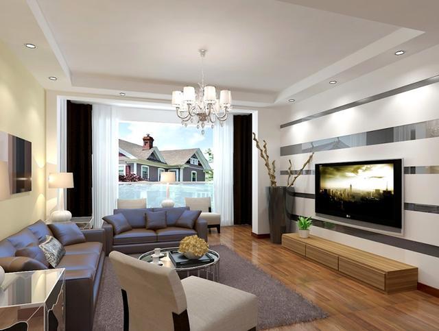 收藏1000套客厅电视墙效果图,发现95%的人都喜欢第4款