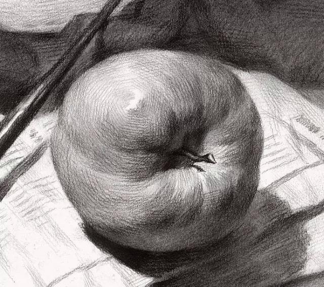 素描—需要从画好一个苹果开始!图片