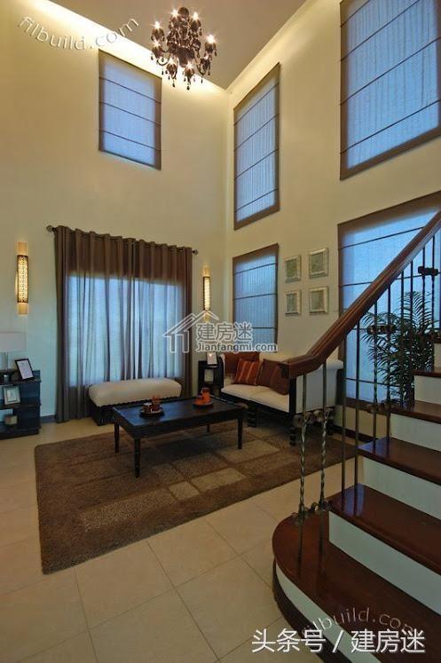 农村二层别墅设计图8米x12米挑高客厅地中海风格别墅图片大全