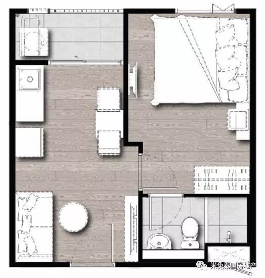 36平方公寓设计图