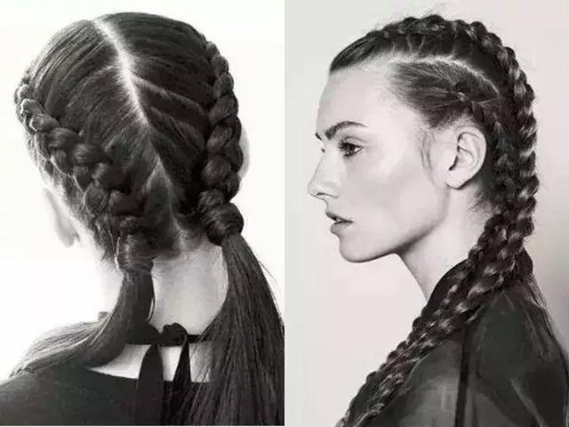 所以辫子的发尾卷卷的样子就像两个小球,看起来俏皮又可爱.