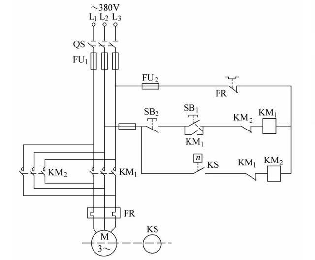 电动机的制动控制电路(电磁抱闸制动电路,反接制动控制电路,能耗制动