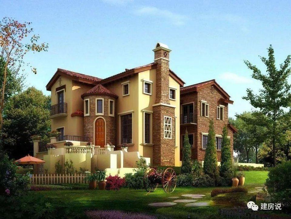 户型1 农村建别墅,风格样式多,中式的,欧式的最为常见,但是农村别墅