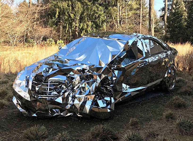 全世界最貴的奔馳s級,車頭像剛被撞,車身布滿鏡面,價值千萬世上僅存一圖片