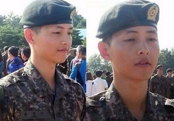 韩星当兵剃寸头,没发型的小五宋仲基成这样图片