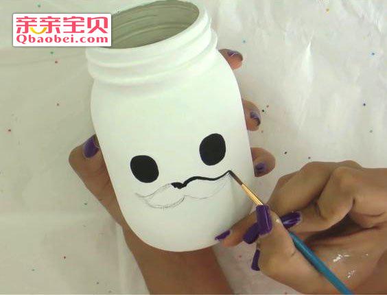 玻璃瓶手工收纳笔筒制作方法