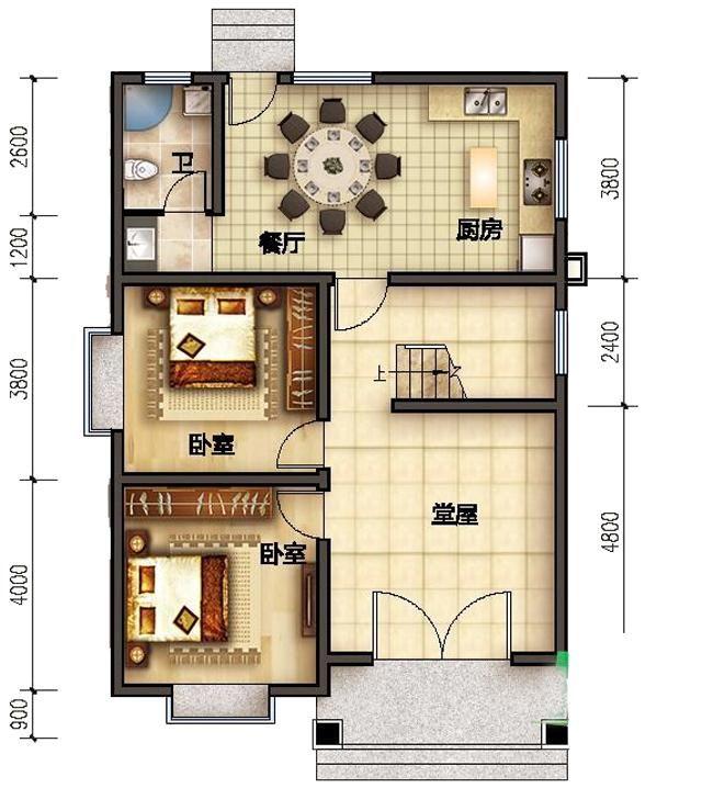 进深长的房屋设计图