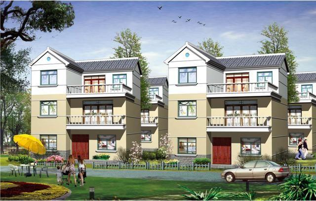 求农村自建房占地90平米,建三层,二层到三层做成复式的设计图