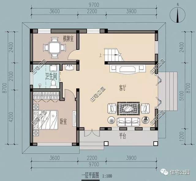 新农村自建9x8米小户型别墅,2种平面布局选1还是选2?
