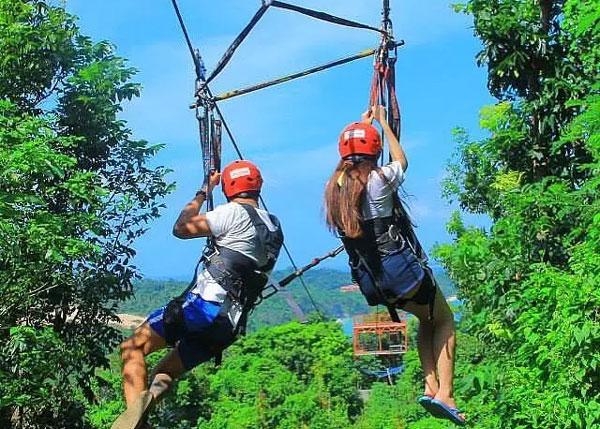 ② 在菲律宾长滩岛,感受肾上腺素爆表的丛林滑索,这里惊喜绝不止止你