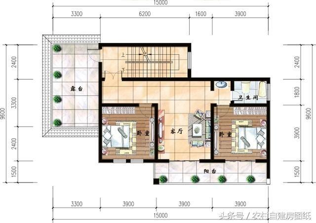 6款农村别墅设计图,带独立厨房有柴火灶,开春建房不用图片