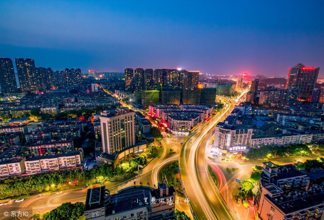 芜湖美丽夜景,临江风景,霓虹闪烁!