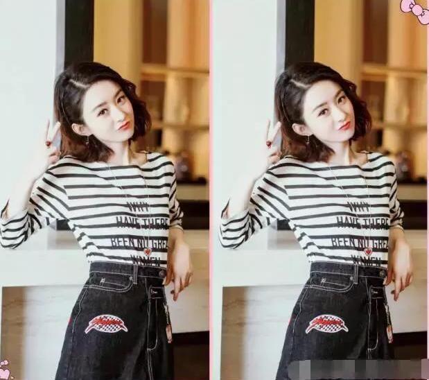 赵丽颖换了个网友,颜色却都说她整容了鹿晗染的头发什么发型图片
