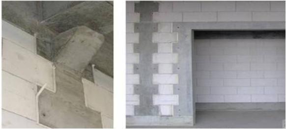 为了增强多层砖混结构的钢度和抗震能力,构造柱必须与圈梁连接.