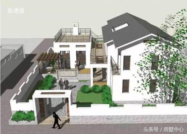 中式别墅,庭院的设计满满乡村情怀,这才是乡村生活