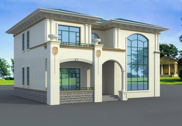 二层别墅设计图纸别墅设计图纸新农村楼房屋自建筑全套施工效果图