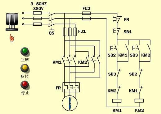 互锁比自锁稍微难一点,它是两个接触器或者和继电器完成的线路.