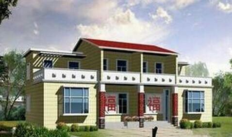 两间两层楼房设计图 农村 小院
