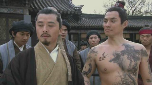 梁山上的4个纹身达人里,只有他的纹身最有品味和格调图片