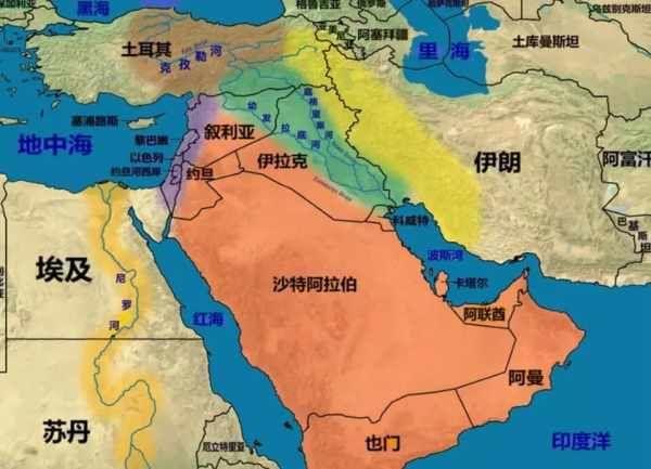 中国到伊朗海路地图