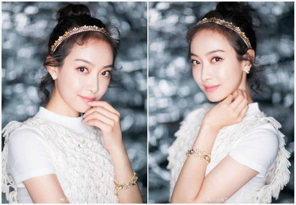 佩戴chanel高级珠宝,和杨幂一样宋茜也佩戴了发箍,还是挺少女的.
