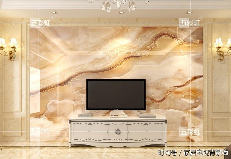 现代简约微晶石电视背景墙瓷砖 欧式客厅影视墙砖