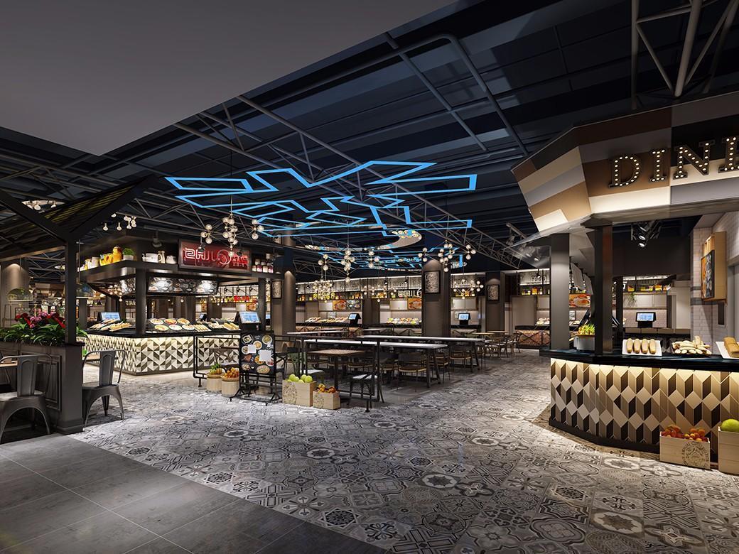 钢铁与时尚元素结合-长春市欧亚奥特莱斯主题美食街图片