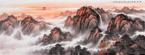 【风水普及】暗藏杀机的背有靠山的风水画