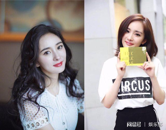 杨幂长发很好看,有女人味,但有时候看着长头发的她并没有短发的样子看图片