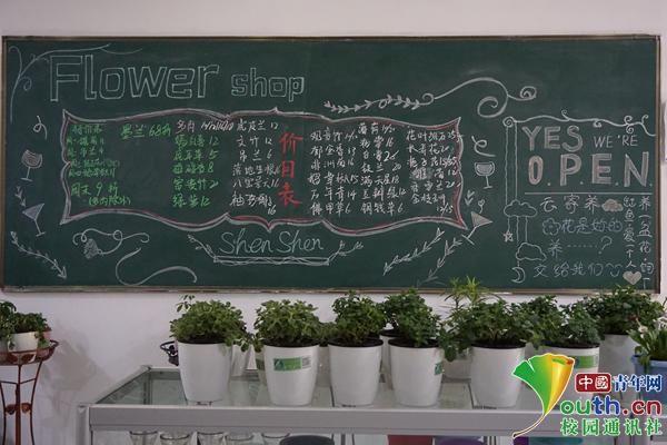 14名大学生创客开半无人初中贴v初中花店却标语要什么数学学图片