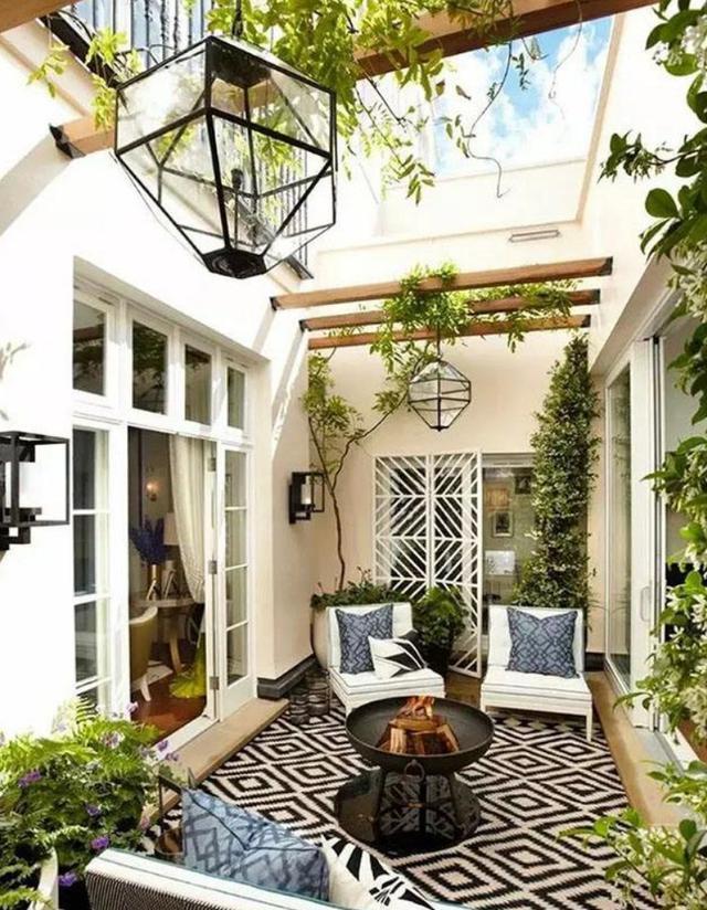 庭院裝修效果圖|下沉式庭院如何裝修才好看?