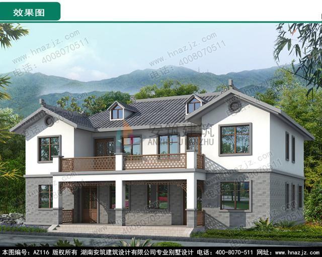 摘要:湖南安筑建筑设计有限公司提供农村别墅设计图,私人高端别墅