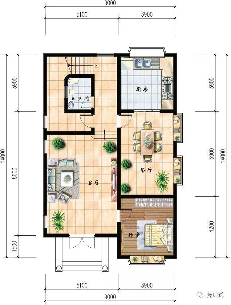 25套开间进深7—9米的别墅,最小的只有73平米