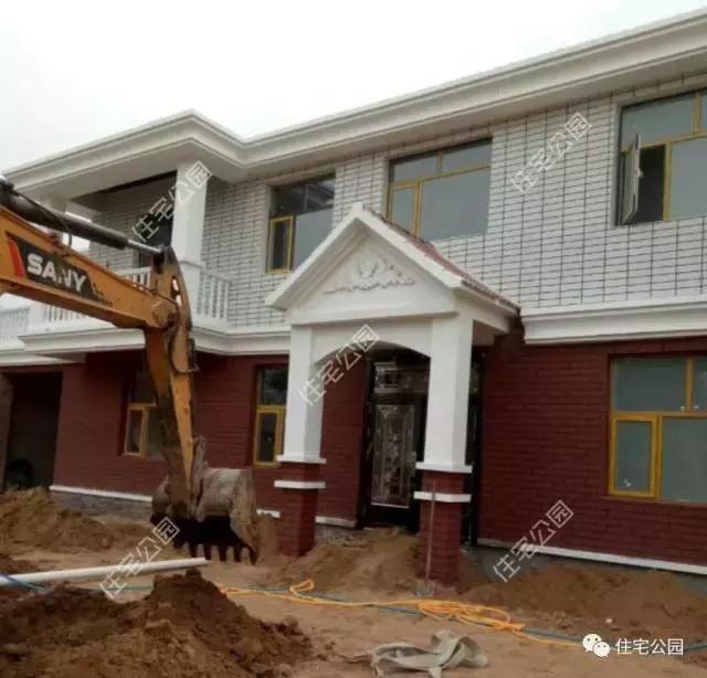 农村红砖瓦房子图片