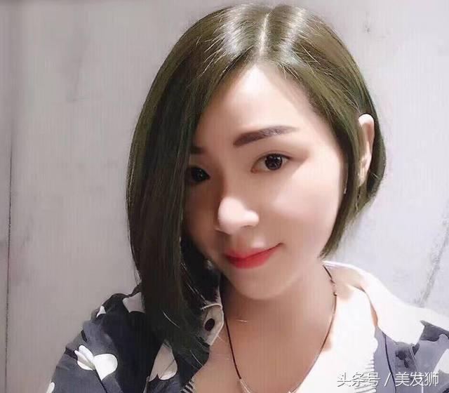 """""""不对称""""短发,是发型两边修剪的不对称,一边长一边短.图片"""