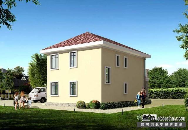 正面效果图 农村18万元二层小楼图外观效果图,整体设计以简欧风格为