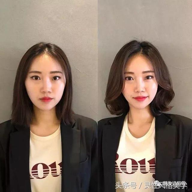 女朋友脸大剪了个短发,觉得没有长发好看了.图片