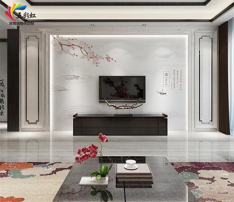新中式电视背景墙哪款好看?含蓄秀美,雅中见灵!图片