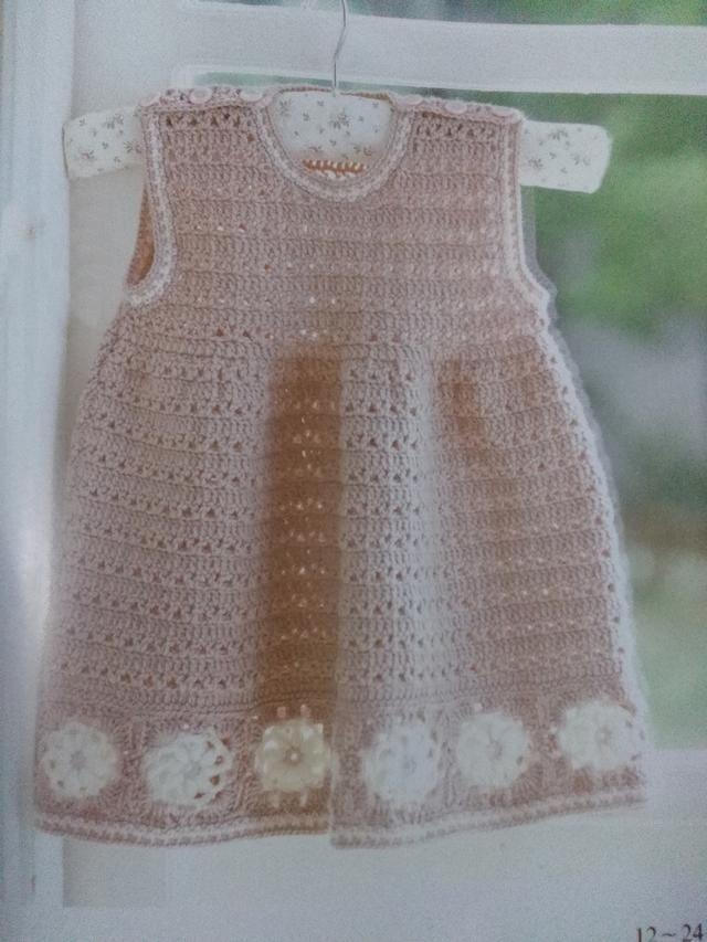 亲亲宝贝装,无袖小裙子钩织花样和图解,给家里小公主钩一个吧