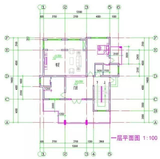 十套新農村自建房別墅設計圖---效果圖 平面圖! 戶型一 長寬:11.