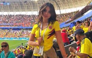世界杯一女球迷意外走红 腰细如A4纸,长相俊俏笑容甜美