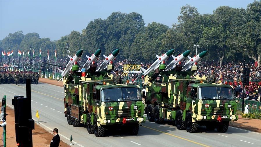 印度首都新德里举行阅兵式庆祝共和国日