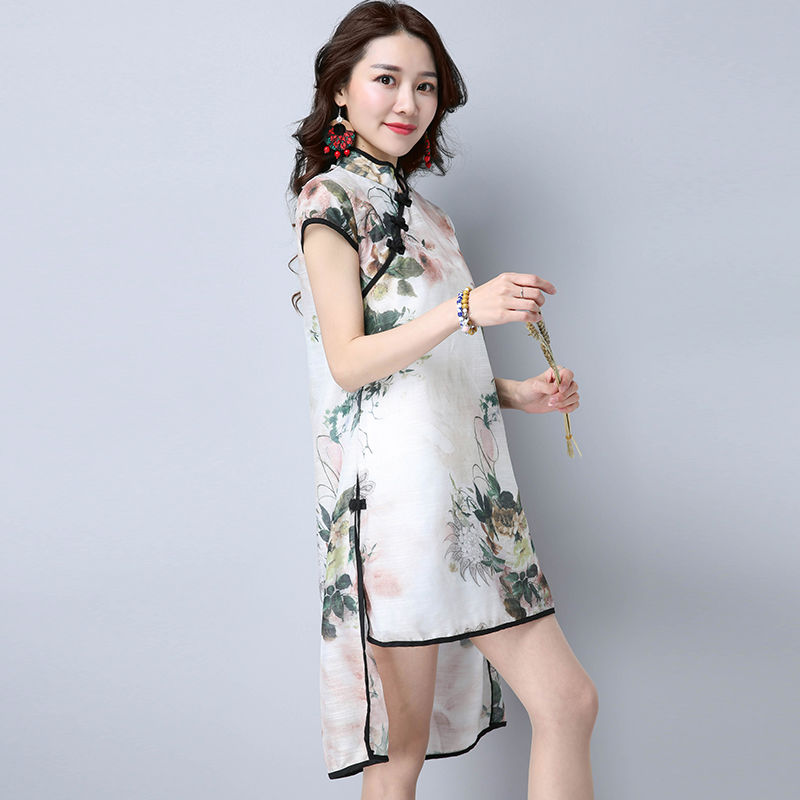 刺绣改良旗袍裙,用高贵、大气、从容、端庄来
