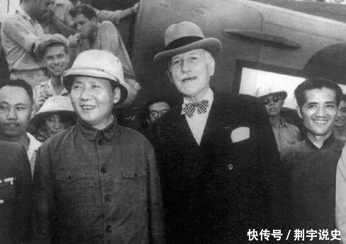 Chairman Mao in Chongqing negotiations, with her mysterious uncle, the Dai Li feel shiver all over though not cold