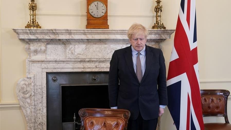 英国首相纪念二战胜利75周年